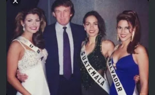 Milena Mayorga junto a Donald Trump