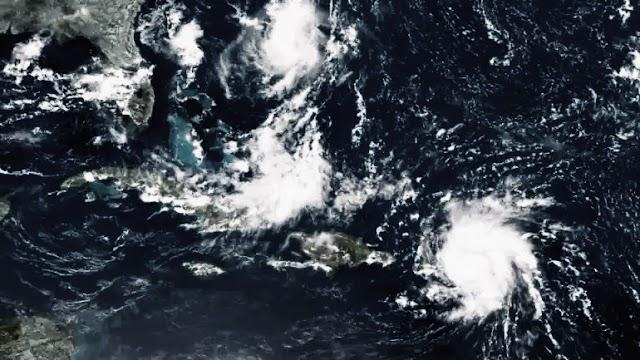 तूफान डोरियन अमेरिका के लिए करना, कैरेबियन में सीमित नुकसान का कारण बनता है