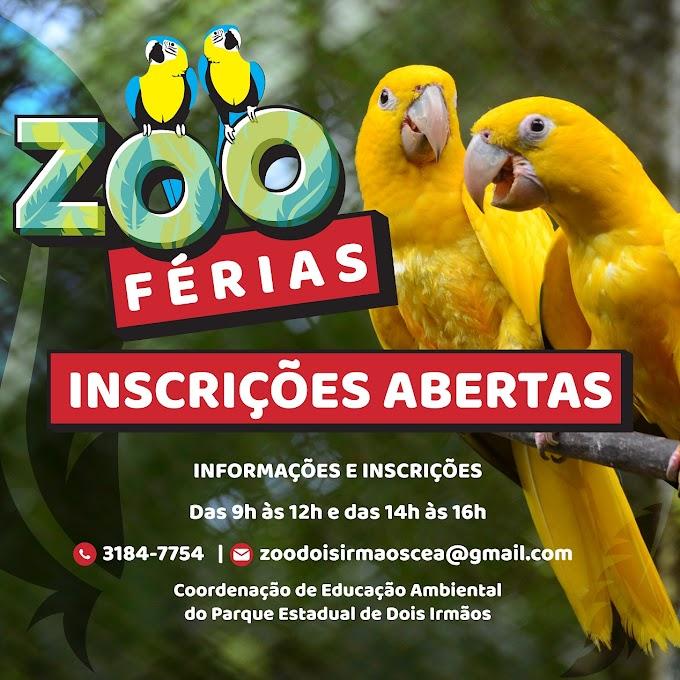 Zoo Férias do Parque de Dois Irmãos têm atrações com diversão e aprendizado sobre a Natureza