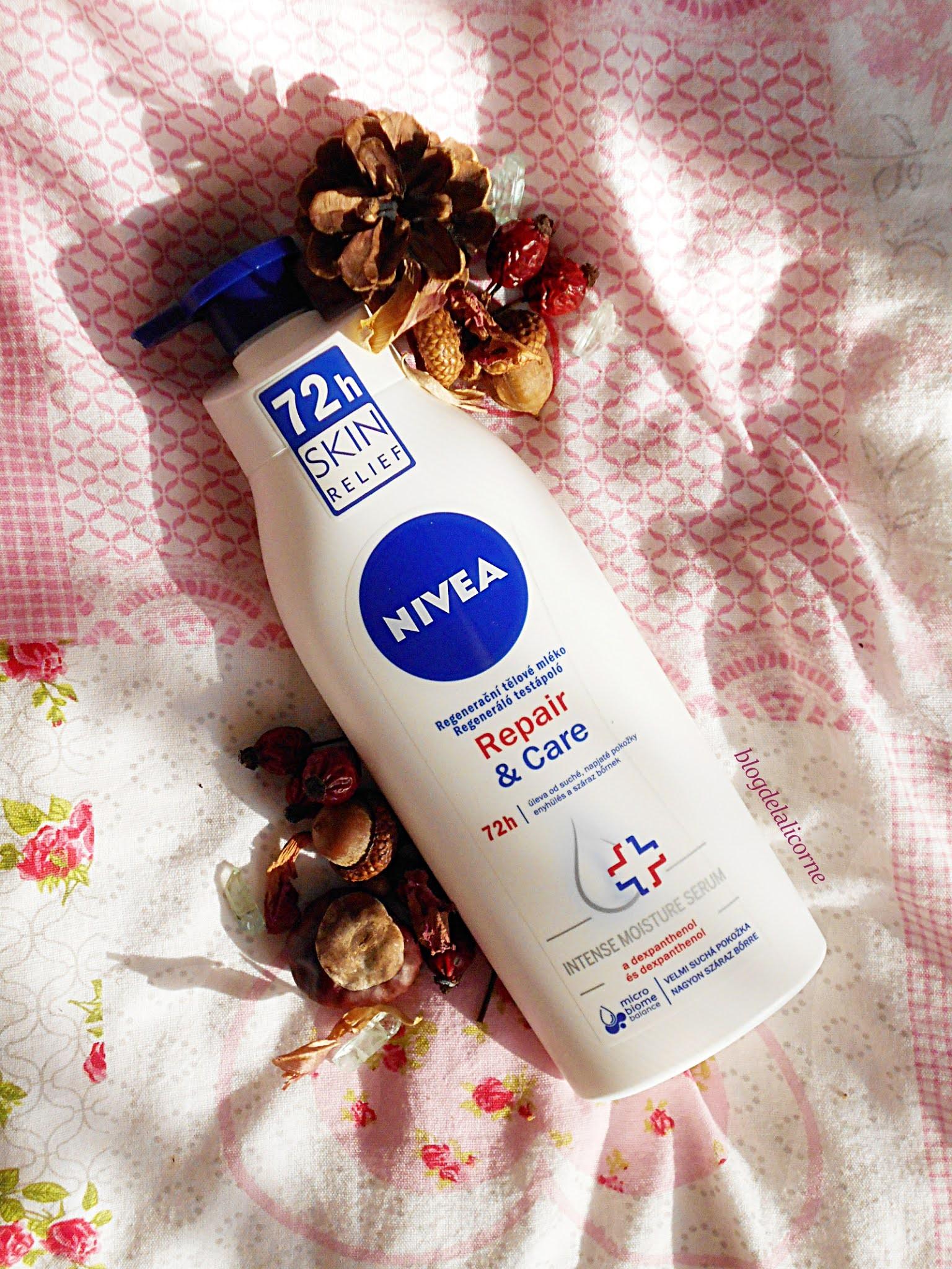Nivea Repair & Care 72h telové mlieko pre suchú pokožku