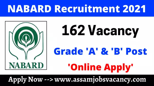 NABARD Recruitment 2021: 162 Vacancies for Officer Grade A & B Post