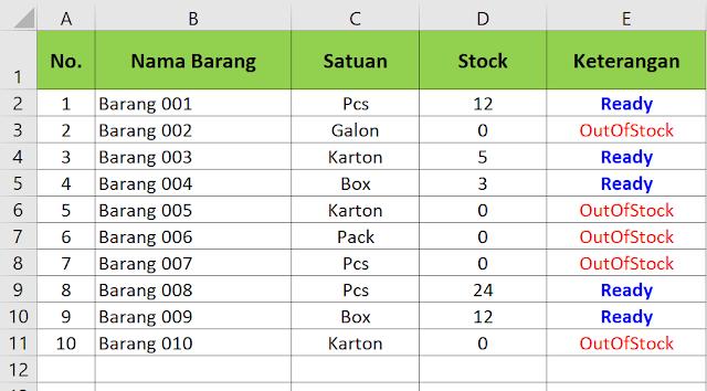 Membuat List Dinamis Dengan Kriteria