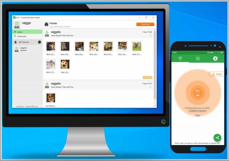 Liwi : Ασύρματη μεταφορά αρχείων από τον υπολογιστή και το κινητό σας