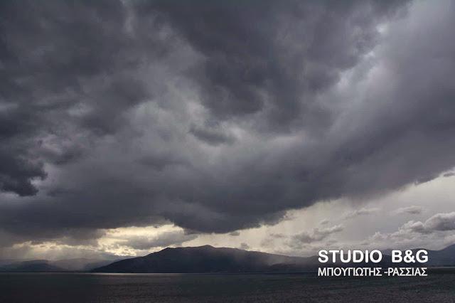 Αποκομμένο βαρομετρικό χαμηλό θα επηρεάσει και την Αργολίδα με  βροχές και καταιγίδες Πέμπτη και Παρασκευή