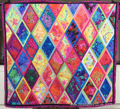Di's Kaffe Fassett Bordered Diamond Quilt