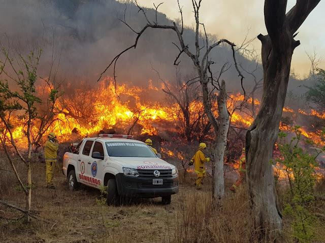 Incendio en Alta Gracia Córdoba