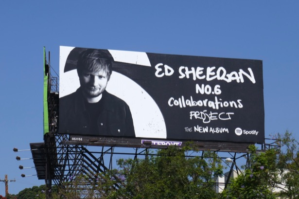 Ed Sheehan No6 Collaborations Spotify billboard
