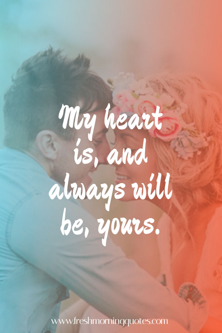 my heart is always yours