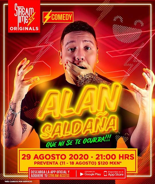 """Alan Saldaña el """"As de la comedia"""" presentará un show único a través de StreamTime"""