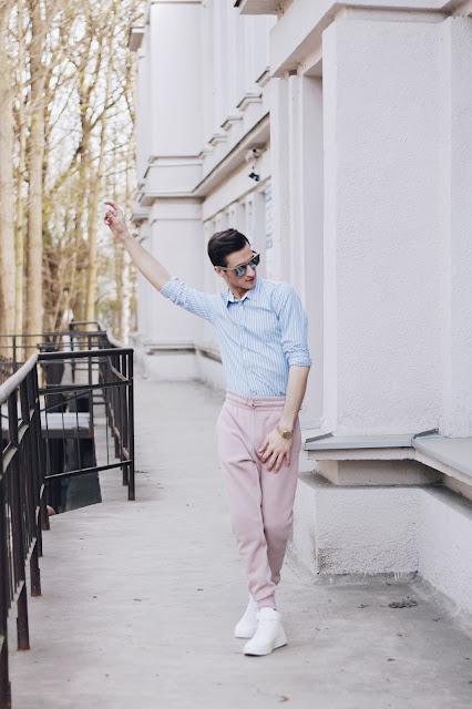 pastelowe spodnie dresowe