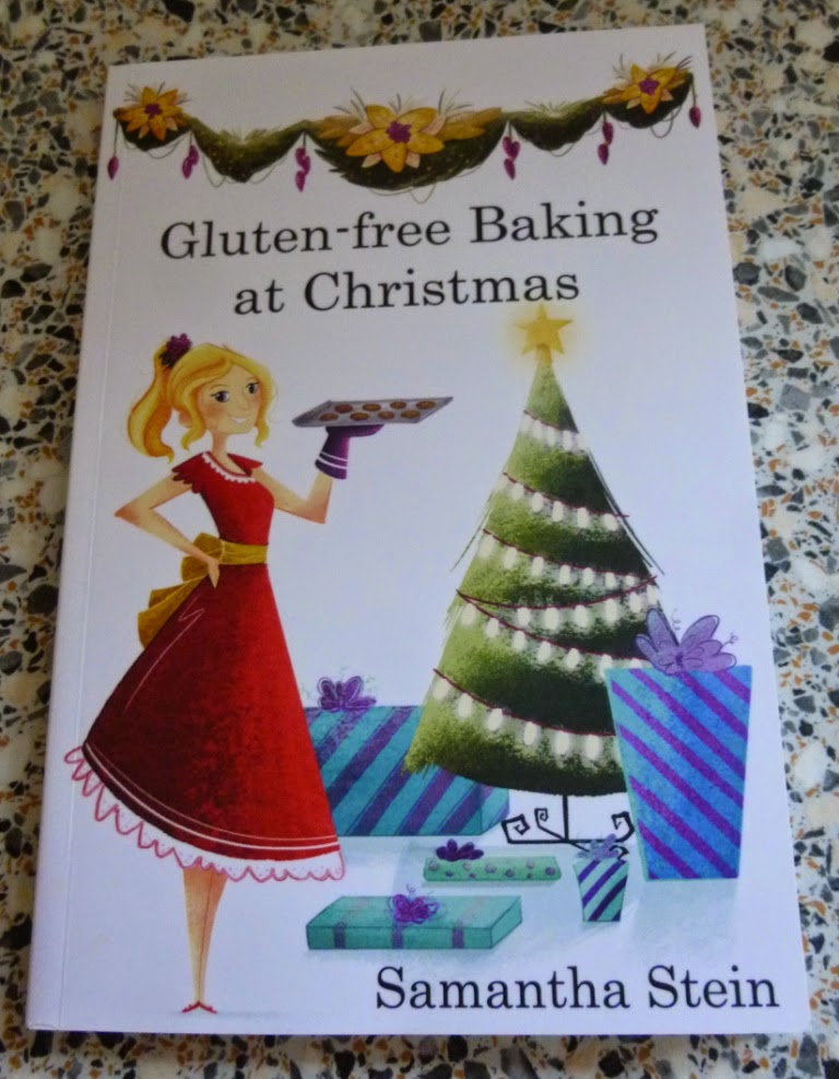The Gluten-free Baking at Christmas book by 'The Happy Coeliac' Samantha Stein. The book contains 20 festive recipes