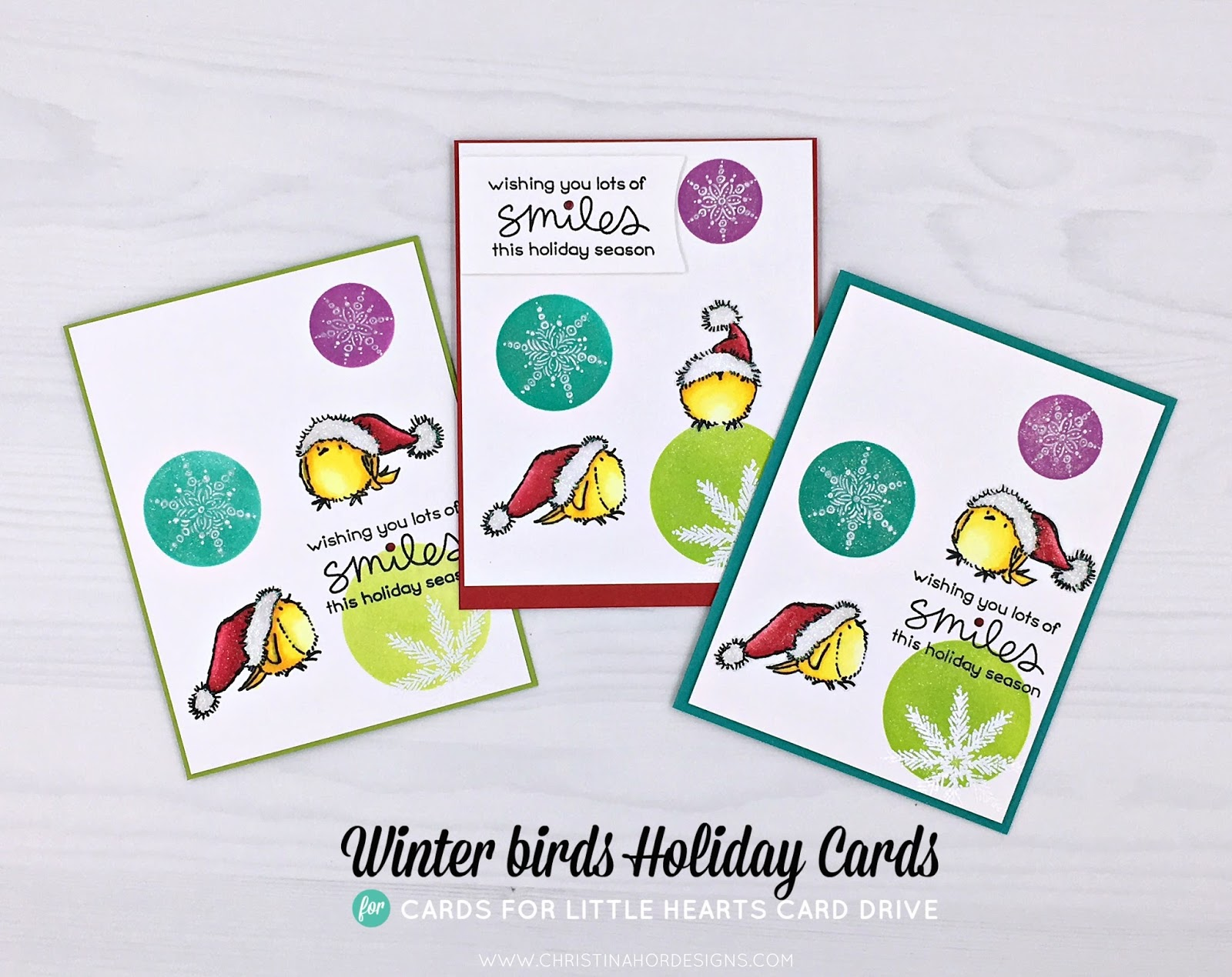 winter holiday cards - cards for little hearts card drive