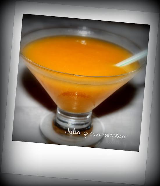 Sorbete de mandarina y mango al cava. Julia y sus recetas