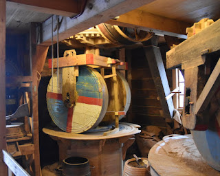 Spice-griding wheels at De Huisman, Zaanse Schans, Zaandam, The Netherlands