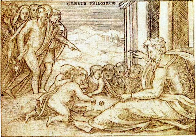[Dessins anonymes d'emblèmes et de philosophes d'après des gravures de Vico Enéa ou de Jacques Androuet du Cerceau