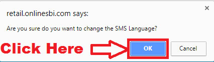 how to change SBI SMS Alert language through sbi internet banking