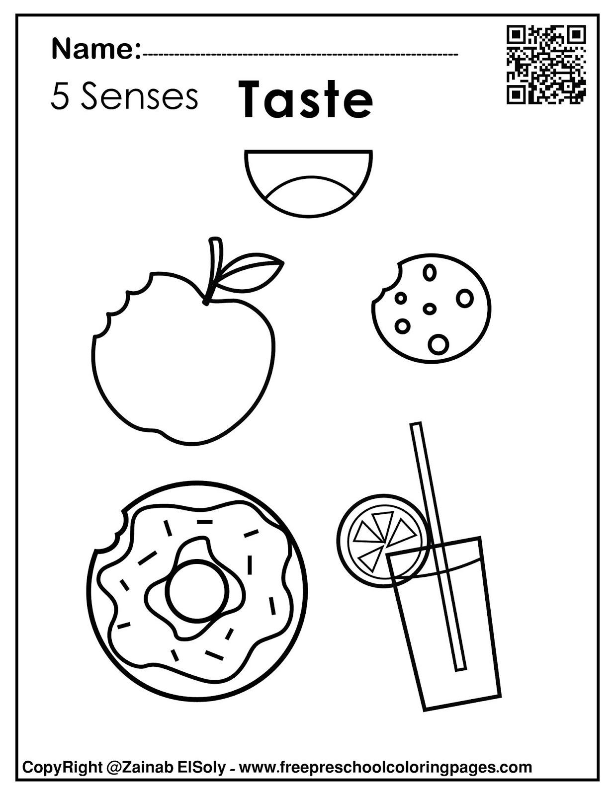 Set Of 5 Senses Activities For Kids
