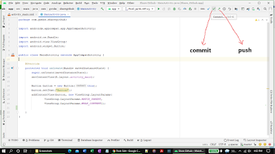 Commit and push icon location on Android Studio