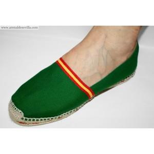 50d417b5932 Cómoda zapatilla de esparto realizada en lino verde. Para una mayor calidad  y comodidad