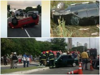 Dia começa com acidentes em bairros e rodovia na Capital