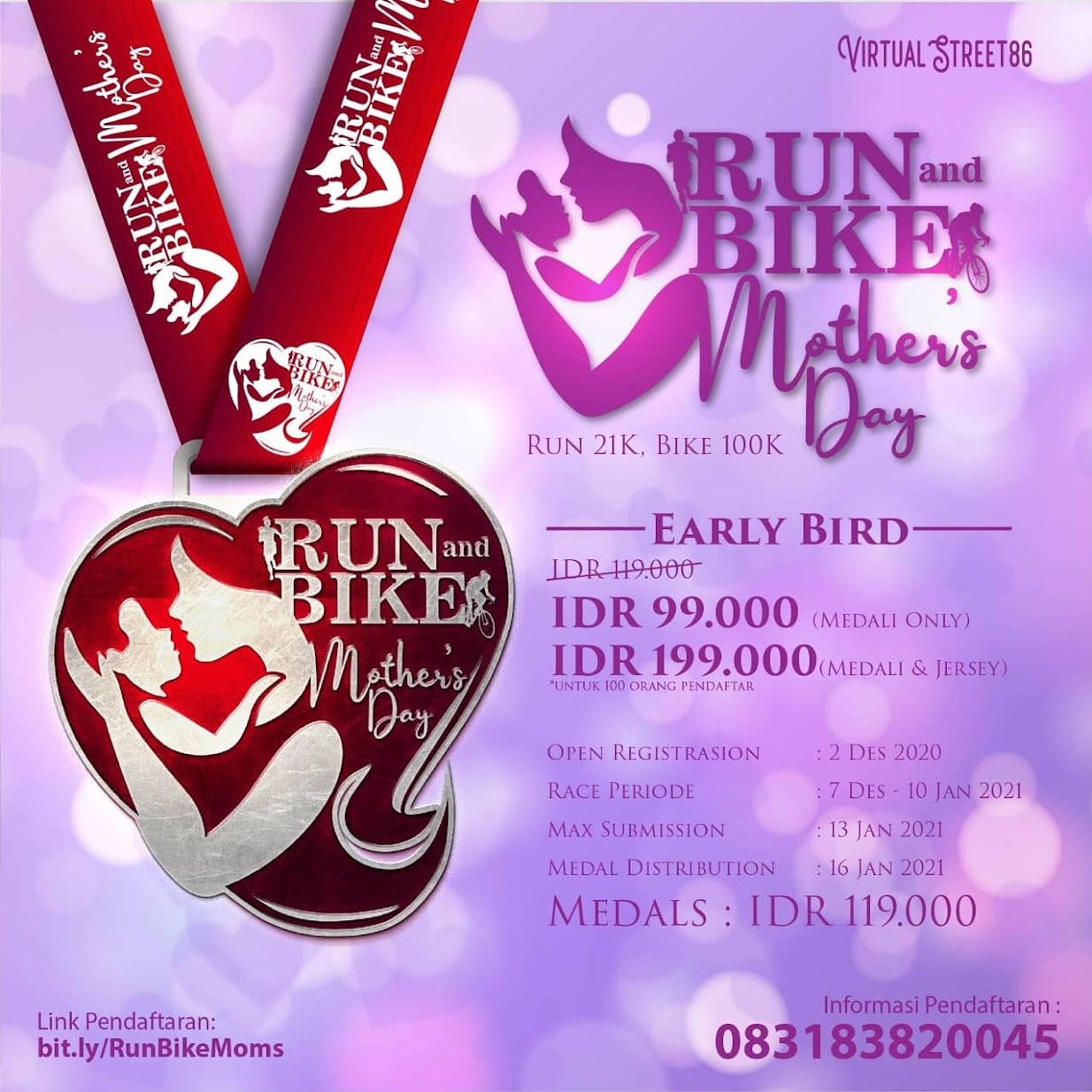 Virtual Run & Bike - Mother's Day • 2020