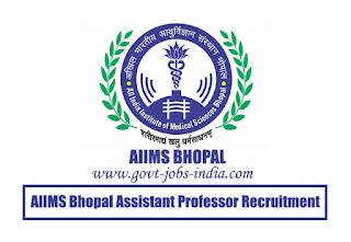 AIIMS Bhopal Assistant Professor Recruitment 2020