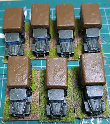 Soviet tank Brigade transport