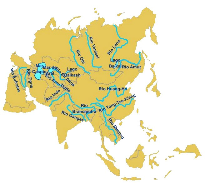 Rios da Ásia