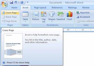 Cara Membuat Sampul Halaman Di Microsoft Word