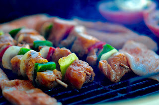 Kebobs on the BBQ
