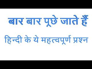 hindi vyakaran questions