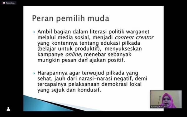 Menjadi Narasumber Webinar Nasional