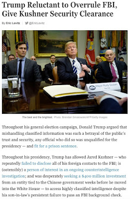 http://nymag.com/daily/intelligencer/2018/02/trump-reluctant-to-overrule-fbi-give-kushner-clearance.html