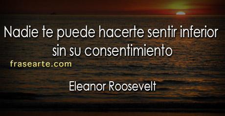 Eleanor Roosevelt- frases para la vida