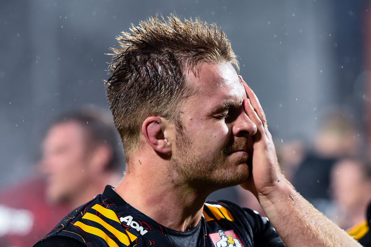A dejected Sam Cane of the Chiefs after the Super Rugby Aotearoa, Crusaders V Chiefs, at Orangetheory Stadium