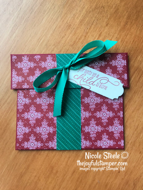 patterned paper, gift card holders, christmas, how to make a card, stampin' up!, papercrafting, nicole steele, independent stampin' up! demonstrator, the joyful stamper, pittsburgh pa