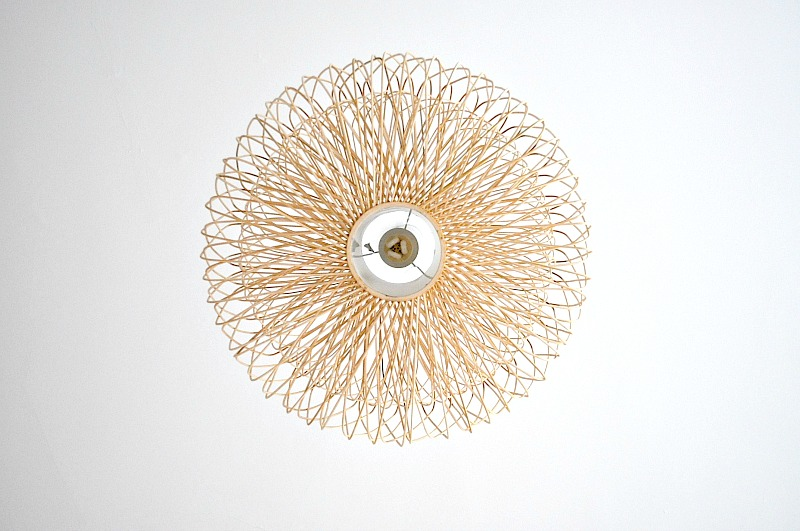 Bamboo structered ceiling light from hombres