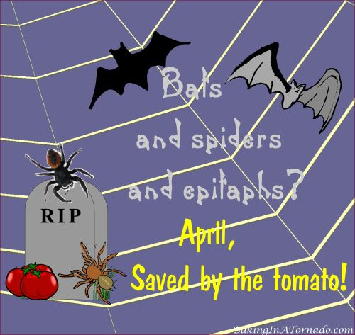 Saved by the Tomato | Graphic designed by and property of www.BakingInATornado.com | #humor #MyGraphics