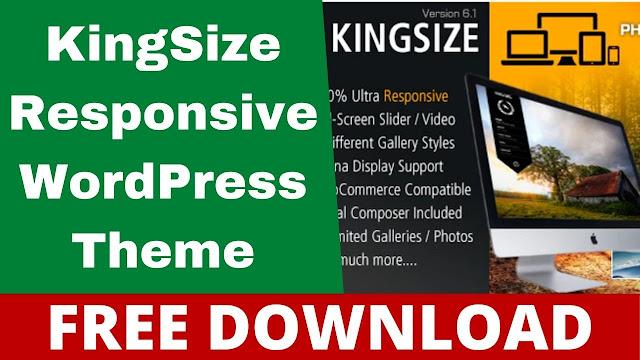 Download KingSize Photography WordPress Theme Free v.5.1.3