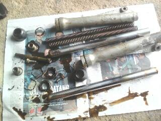 Gambar komponen fork motor