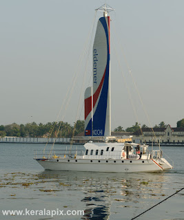 Yacht Eldemer sailing - view from Vypin, Kochi