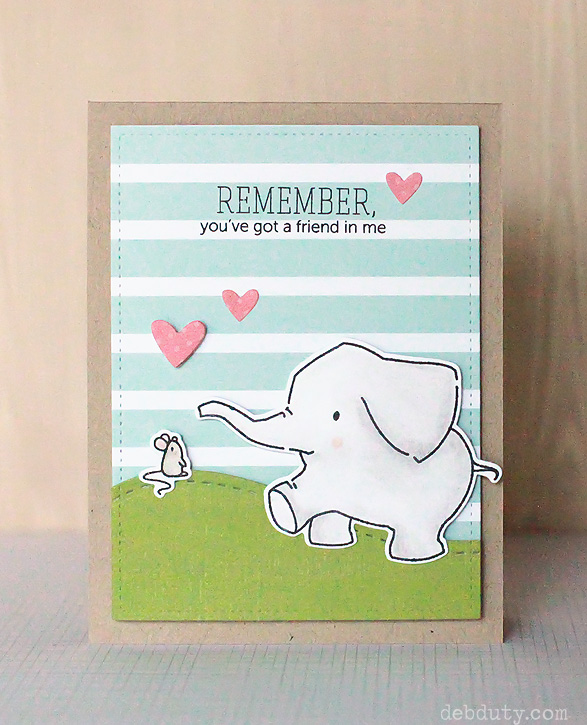 a4e2ee8ae6eb4c I love that this stamp set has several other little animals as well like  the little mouse. It makes a sweet card for a friend with the