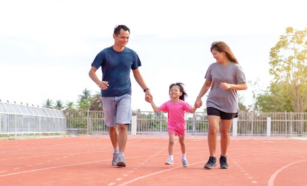 how to have more fun working out family walk frugal fit