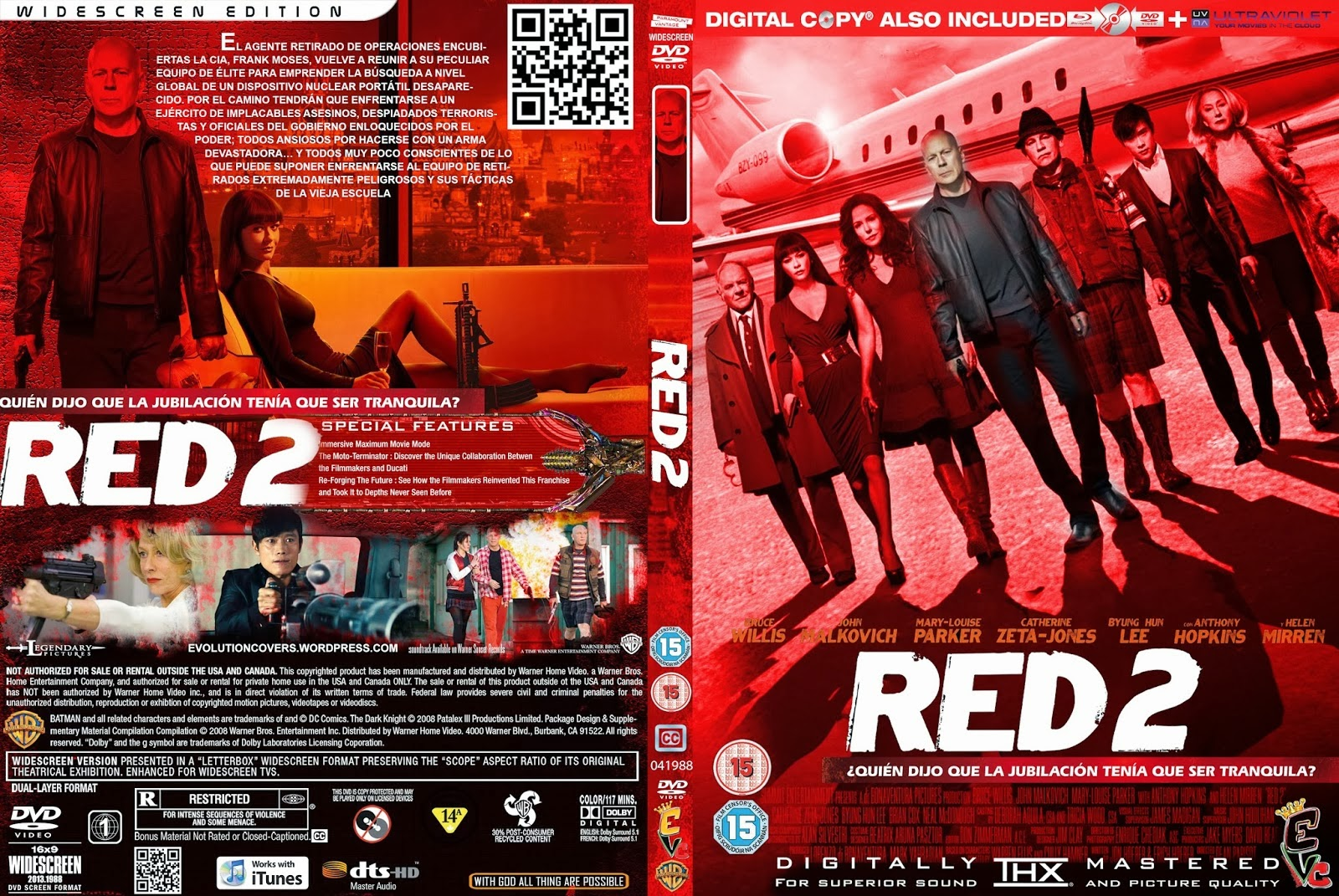 Red 2 2013 Dvd Cover R...