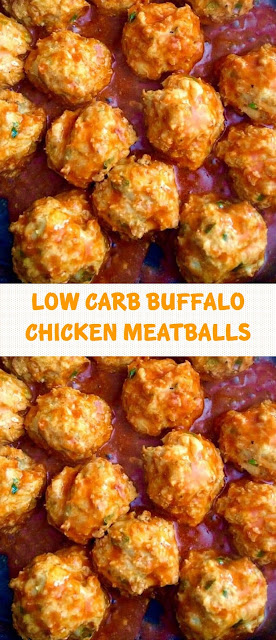 LOW CARB BUFFALO CHICKEN MEATBALLS