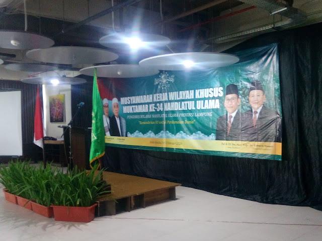 Rapat MUKERWILSUS PWNU Provinsi Lampung Dihadiri Oleh Seluruh Pengurus Wilayah
