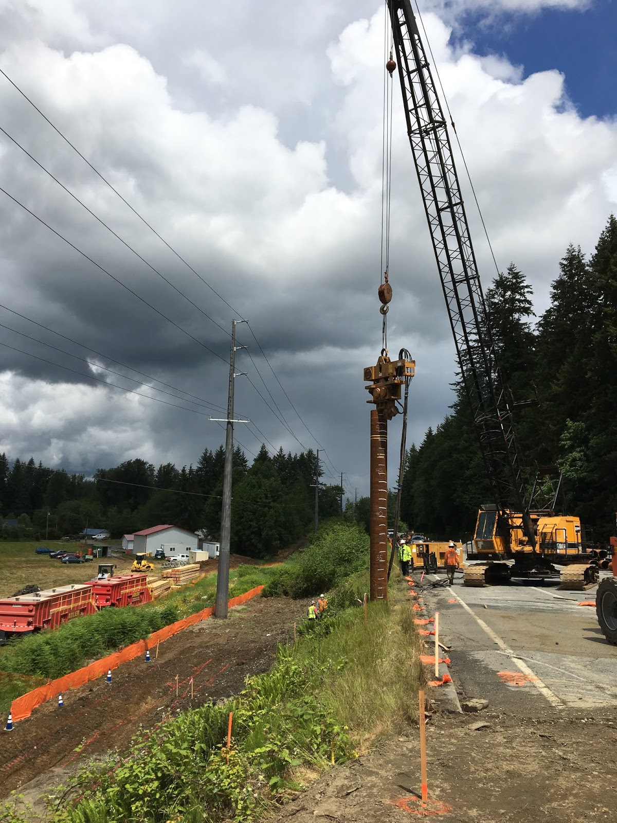 during two weekend closures in june contractor crews assemble a custom made 30