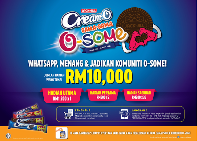JACK 'n JILL CREAM-O LAUNCHES 'PROJEK KOMUNITI O-SOME' THROUGH 'SAMA-SAMA O-SOME' CAMPAIGN