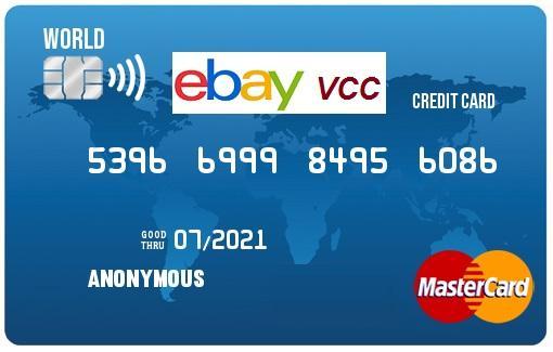 Vcc Virtual Credit Card For Ebay Seller Verification Worldwide