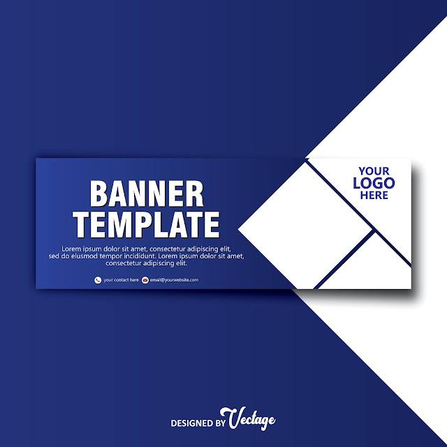 blue banner design template,